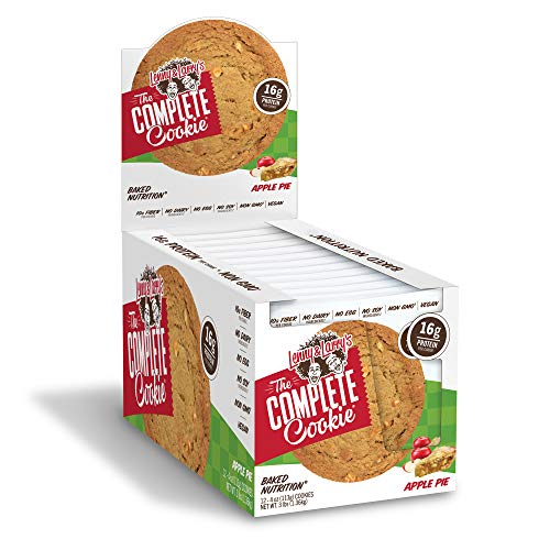 Lenny & Larry's The Complete Cookie, Apple Pie, 4 Ounce Cookies - 12 Count, Soft Baked, Vegan and Non GMO Protein Cookies