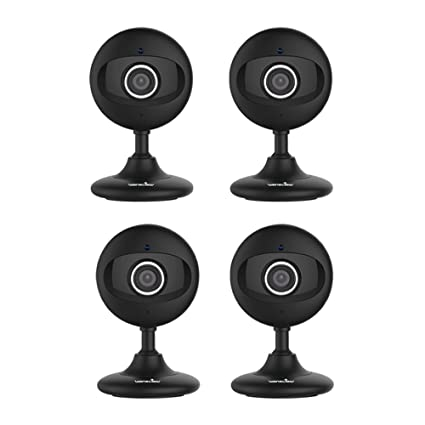 Wansview Wireless Home Camera, WiFi IP Security Surveillance System for  Baby/Elder/Pet/Nanny Monitor with Night Vision K2 4Pack (Black)