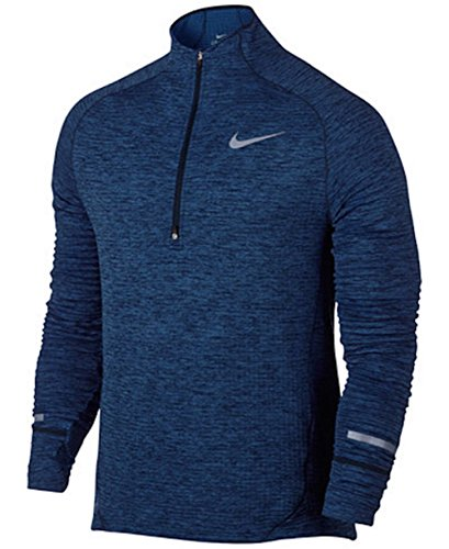 (Nike Element Sphere Half-Zip Dark Purple Dust/Heather/Reflective Silver Men's Long Sleeve Pullover)