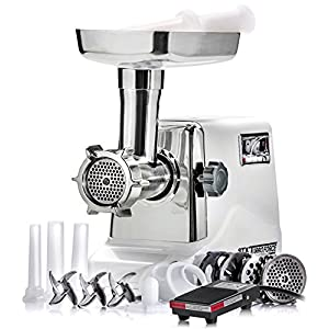 STX International Model STX-3000-TF-PD Turboforce 3000 Series Size #12 Electric Meat Grinder Featuring Foot Pedal On/Off Control