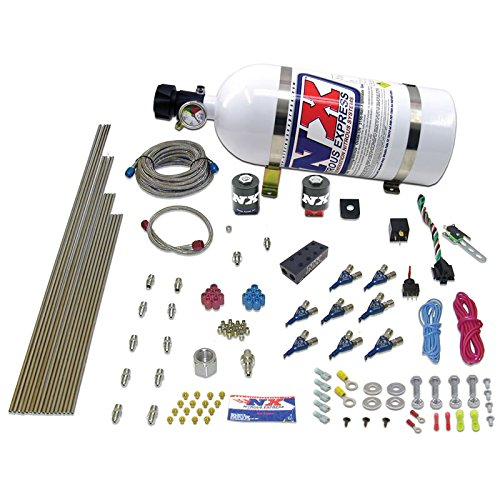 (Nitrous Express 80000EFI-05 150-300 HP 8-Cylinder Gasoline EFI Piranha Nozzle System with 5 lbs. Bottle)