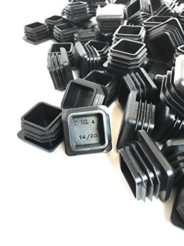(100 Pack) (14-20 GA) Square Plastic Polyethylene Plug 1''x 1'' by Brewdogsupplies (Image #1)