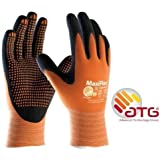 MaxiFlex Endurance 34-848 Nitrile Foam Micro Dot Palm Coated Work gloves - 9/Large by ATG