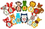 Pearhead First Year Monthly Milestone Felt Animal Photo Sharing Baby Belly Stickers, 1-12 Months