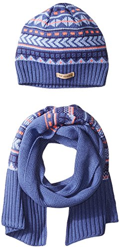Columbia Women's Winter Worn Hat and Scarf Set, Bluebell, One Size (Hat For Women Winter Columbia)