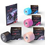 HOLIDAY DEAL - Kinesiology Tape - FREE Ebook Latest Strapping,Taping Applications - Therapeutic Athletic Sports Tape - Knee Shoulder Elbow Ankle Neck - Superior Waterproof Adhesion - Non-Latex