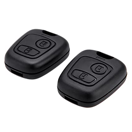 PEUGEOT 2 BUTTON CAR KEY REMOTE FOB CASE 107 207 307 206 306 406 Without Groove
