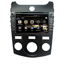 TLTek 8 inch HD 1024*600 Muti-touch Screen Car GPS Navigation System For Kia Forte 2010 2011 2012 2013 Android DVD Player+Backup Camera+North America Map
