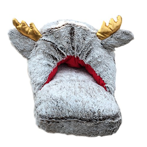 Moon Jumbo Feet Reindeer Adults Feet Design Christmas Novelty Comfy Slippers 3D Massage q66txFAZ
