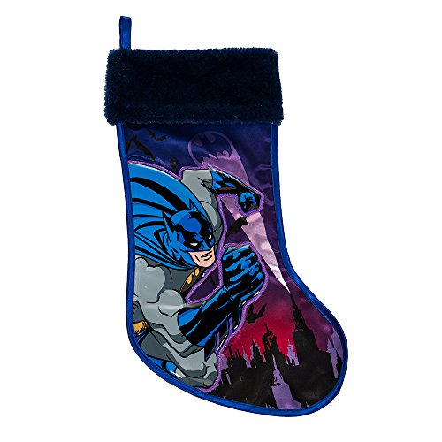Batman Kurt Adler Applique Stocking, -