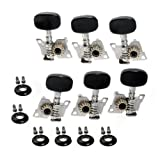 Kmise A1826 1 Set 3L3R Classical Guitar B-109 Tuning Pegs Machine Heads Tuners Nickel
