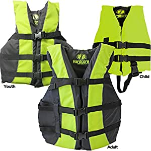 Hardcore Water Sports High Visibility Coast Guard Approved Life Jackets for the Whole Family (Super Large Yellow)