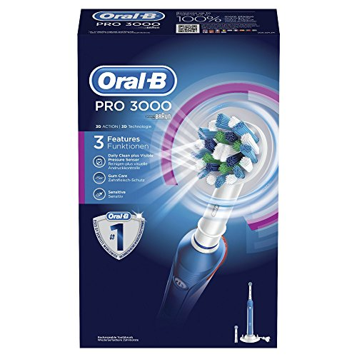 Oral-B PRO CrossAction 3000 wiederaufladbare elektrische Zahnbürste