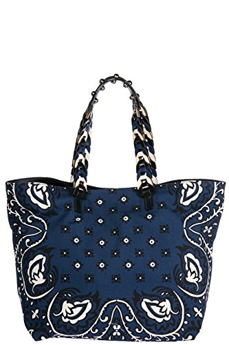 Bandhana Long With New Valentino Shopping Blu Handles Bags Woman Network For 8xqfgERwf