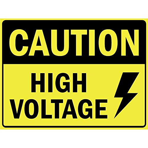 - Label Decal Sticker Caution High Voltage Vinyl Durability Self Adhesive Decal Uv Protected & Weatherproof