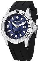 Stuhrling Original Men's 718.03 Aquadiver Manta Ray Swiss Quartz Professional Diver Blue Dial Watch from Stuhrling Original