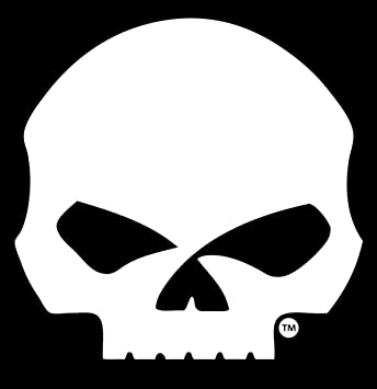 harley davidson willie g skull large window decal moldings amazon rh amazon ca harley skull logo harley skull emblem