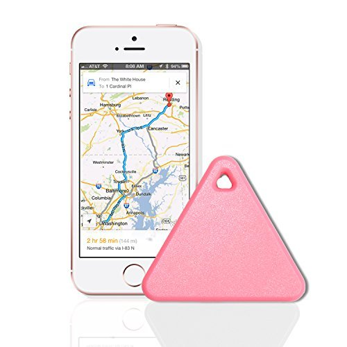 Smart Anti Lost Tracker iTag-Tiny Innovative Bluetooth Tracker,Key Finder,Anything Finder,Bidirectional Finder (Pink)
