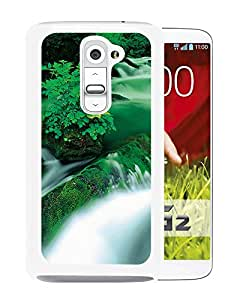 New Beautiful Custom Designed Cover Case For LG G2 With Jungle Waterfall Landscape (2) Phone Case