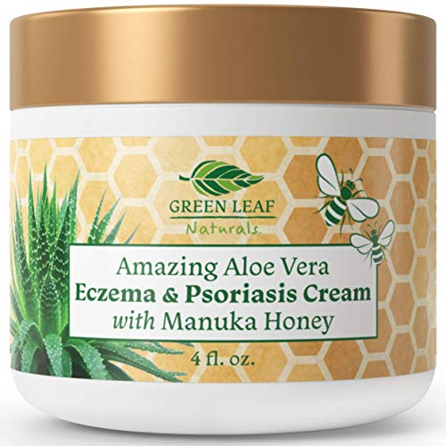 zema and Psoriasis Cream with Manuka Honey by Green Leaf Naturals - 4 oz ()