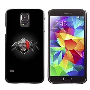 Caucho caso de Shell duro de la cubierta de accesorios de protección BY RAYDREAMMM - Samsung Galaxy S5 SM-G900 - Electronic Music Band
