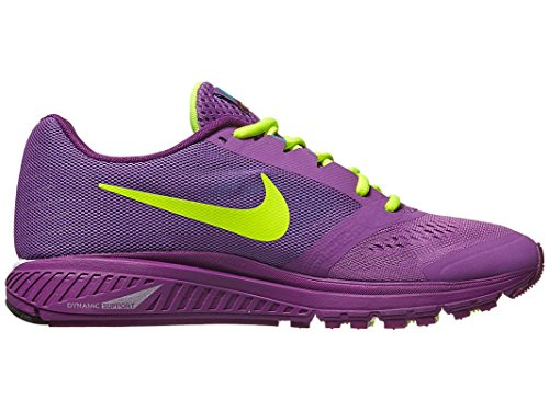 Nike Womens Zoom Structure + 17 Running Trainers 615588 105 Sneakers Shoes Nike Plus Violet / Volt