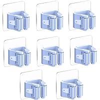 3-H Mop Bezem Houder Wandmontage Zelfklevend, Mop Borstel Organizer Bezem Hanger Keuken Tool Opslag (blauw)