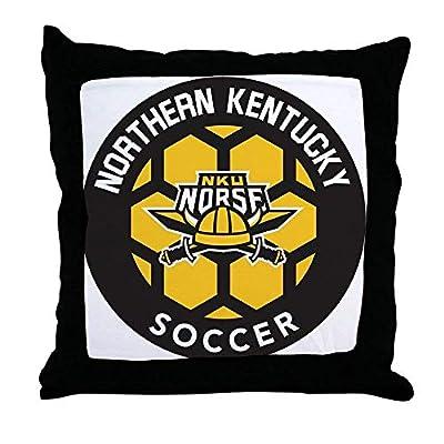 FiuFgyt Northern Kentucky NKU Norse Soccer Pillow Covers Decorative 18 x 18 Throw Pillows Couch Zipper