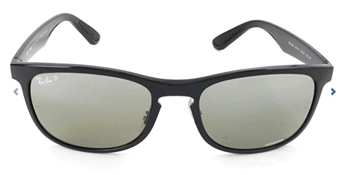 RAY-BAN 4263 Gafas de sol, Shiny Black, 55 para Hombre ...