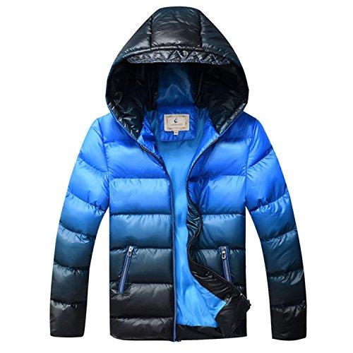 Jacket Newmarket (Kids Jacket Boys Down Jackets Coats Thick Cotton Wadded Jacket Big Boys Parka Jacket Sky Blue 9)