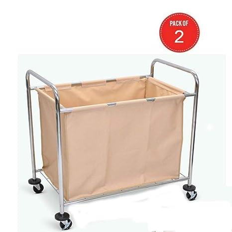 Amazon.com: Luxor - Carro de la colada con marco de acero ...