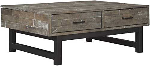 Signature Design by Ashley Mondoro Lift Top Cocktail Table Grayish Brown