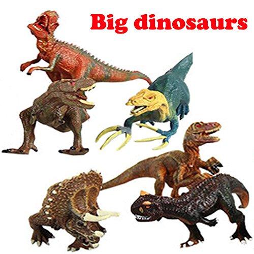Plastic Figure Pack - SunRise 6 PCS Dinosaur figures,Large Assorted Dinosaur Plastic Toy Figures Pack of,Max 9