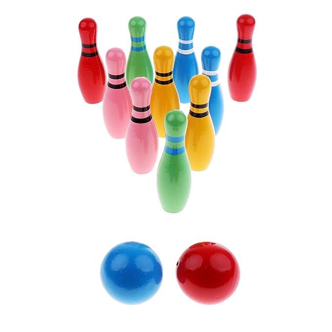 Baoblaze Mini Bowlingkugel Bowling Holzspielzeug pädagogische Interaktive Sport Fitness Spielzeug für Kinder und Kleinkind Frühkindliche Rollenspiele Möbel & Zubehör für die frühkindliche Bildung