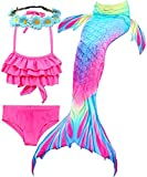 Camlinbo 3Pcs Girls Swimsuits Mermaid for