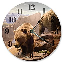 10.5 THE GRIZZLY BEAR CLOCK - Large 10.5 Wall Clock - Home Décor Clock