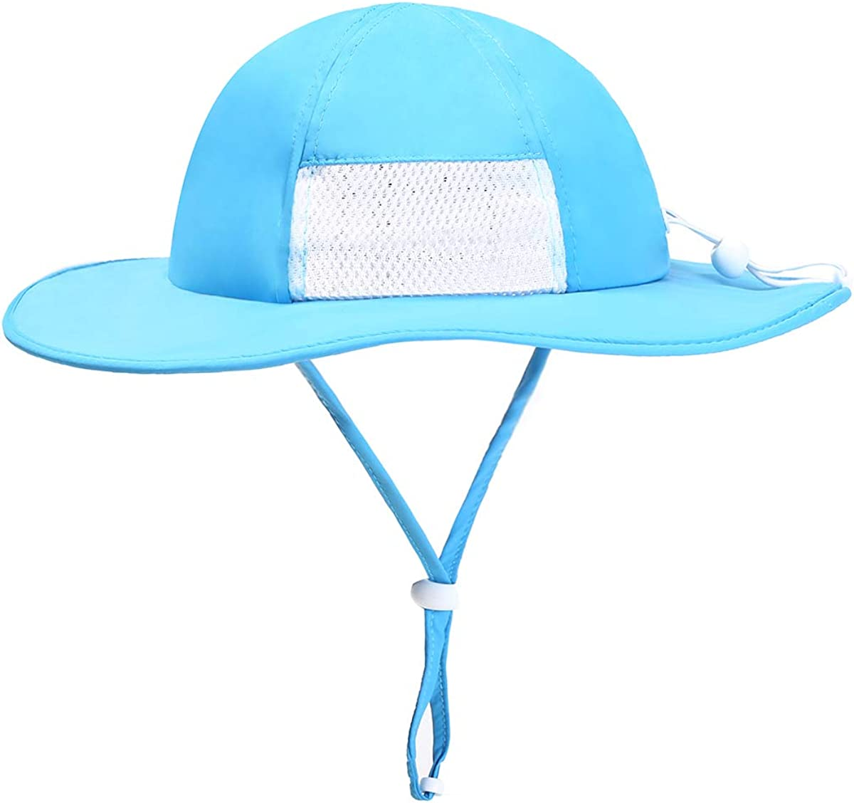 ZZLAY Wide Brim Sun Hat SPF 50 UV Protection Breathable Adjustable Cap for Baby Toddler Kids