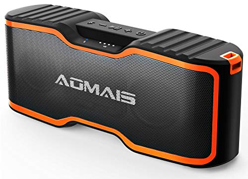AOMAIS Sport II+ Bluetooth Speakers, Portable Outdoor Wireless Speaker, 30H Playtime, 20W HD Stereo Sound & Richer Bass, IPX7 Waterproof, 100ft Bluetooth for Travel, Party, Beach【2019 Upgrade Version】 (Best Bluetooth Speaker Bass 2019)