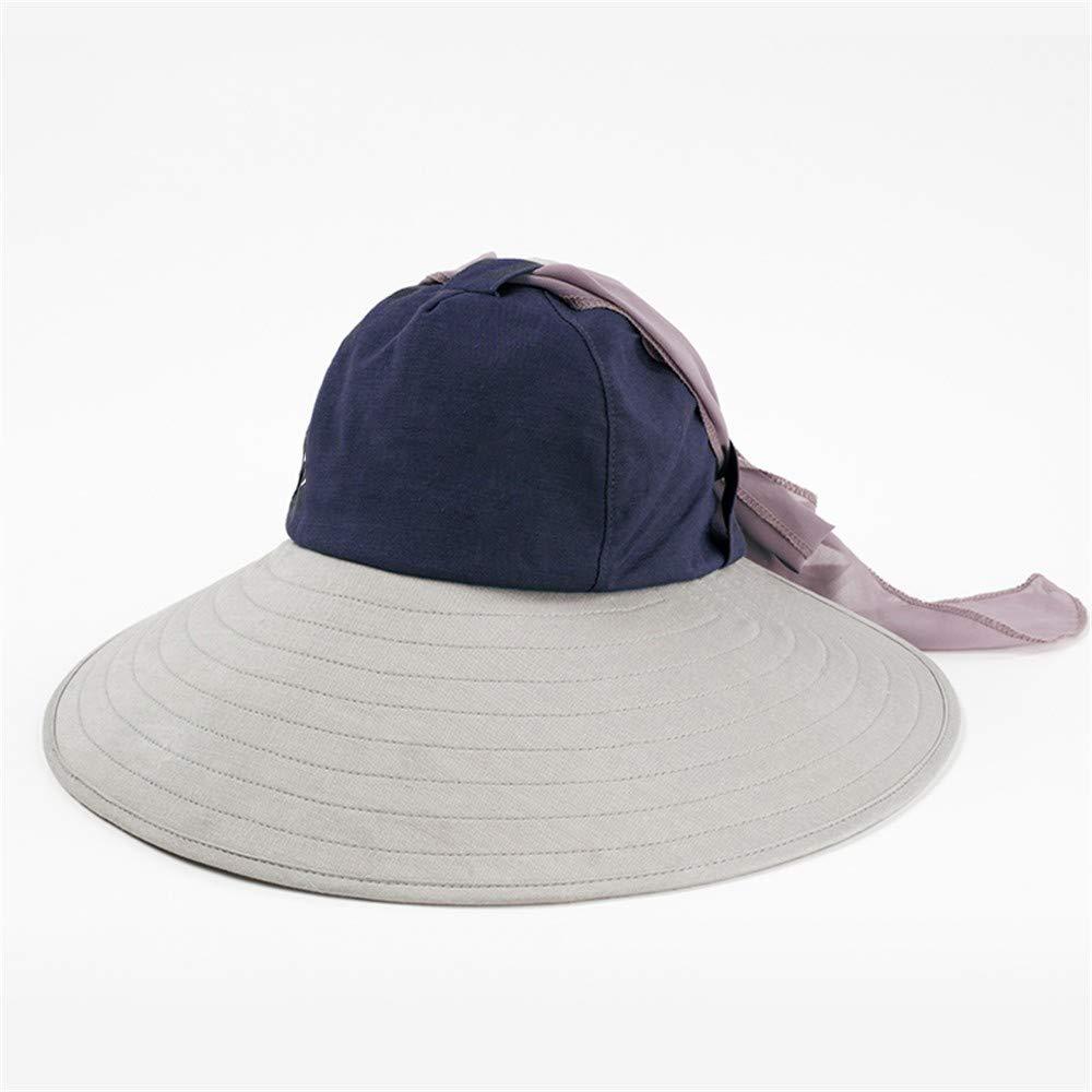 B Ladies Sun Hat Beach Hats,Hat Woman Summer Outdoor Shading Folding face AntiUltrapurple Windproof Cycling Sunscreen Sun Beach Hat