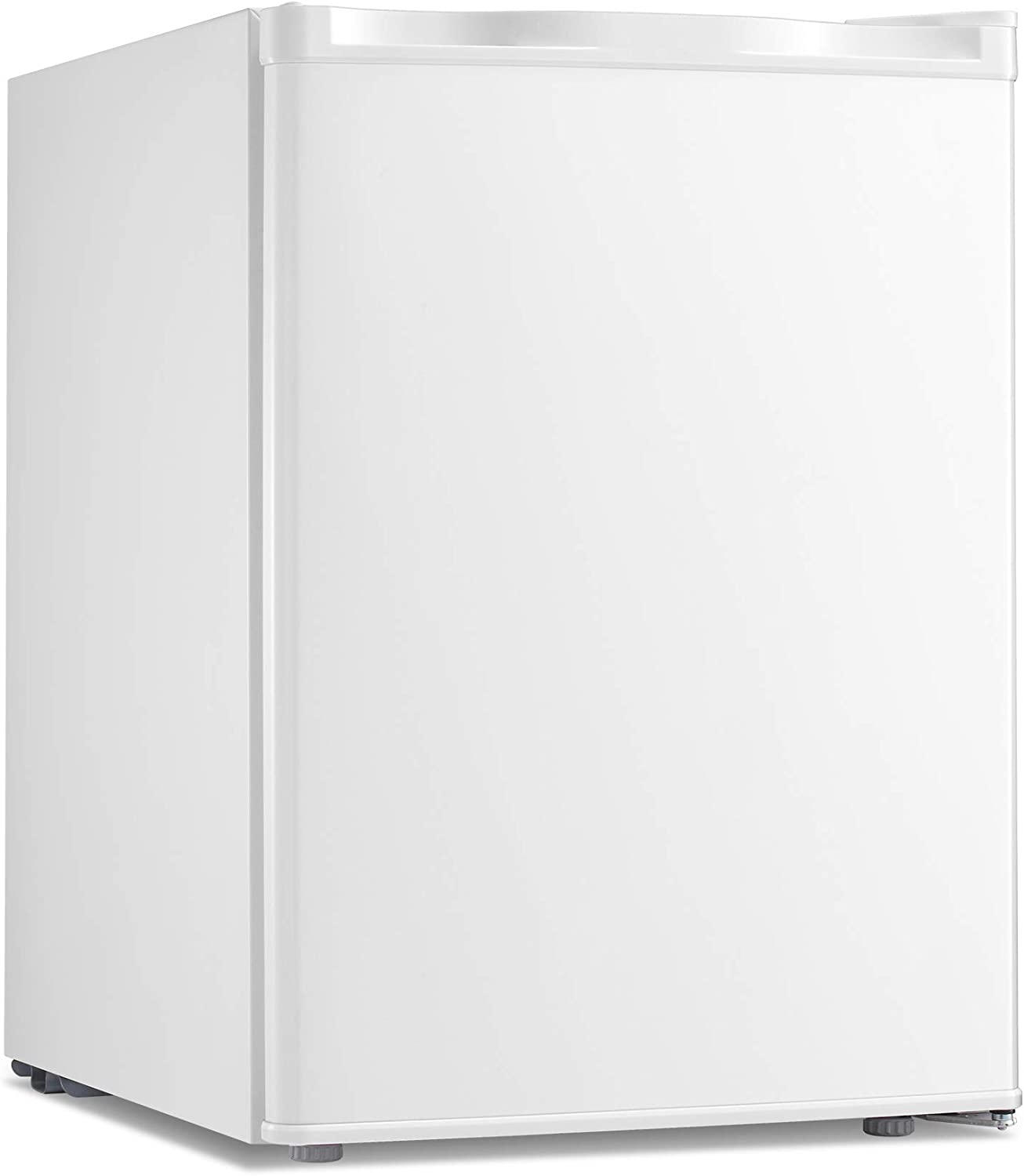 Antarctic Star Compact Chest Upright Freezer Single Door Reversible Stainless Steel Door, Compact Adjustable Removable Shelves for Home Office, 2.1 cu.White
