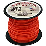Pepperell 1.9mm Parachute Cord, 100-Feet, Neon Orange
