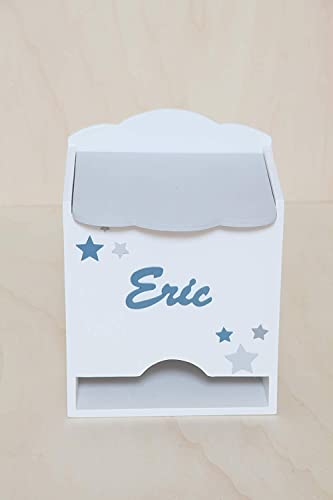 Caja para pañales personalizada hecha a mano. Fabricada en madera ...