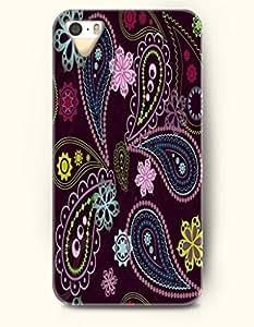 SevenArc Apple iPhone 5 5S Case Paisley Pattern ( Beautiful Paisley Flowers in Purple Background )