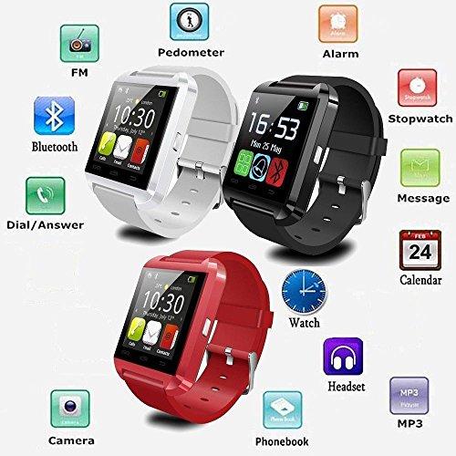 MaiDealz U8 Touch Screen Bluetooth3.0 Smartwatch Handy Uhr für Android4.4 Smartphones Samsung / HTC / Sony / Huawei (Schwarz)