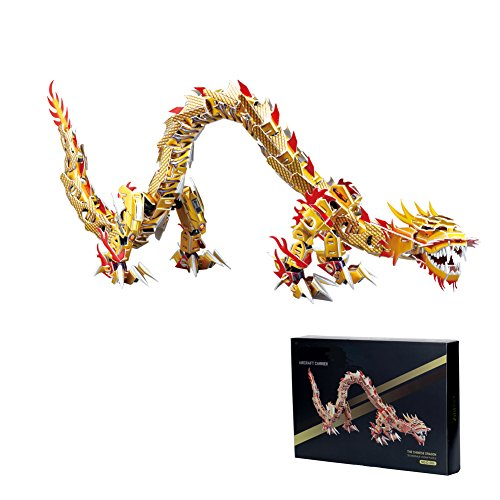 MammyGol 3D Educational Puzzle Chinese Dragon Kids Birthday Gifts—197 Pieces
