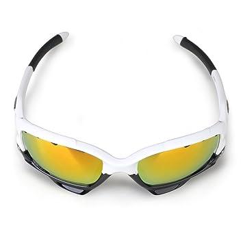 Gonex - gafas de sol deportivas para ciclismo, 3 cristales irrompibles intercambiables (UV 400