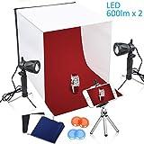 TFJ 40x40cm Table Top Photography Studio Light Continous LED Lighting Photo Shooting Tent Box Kit