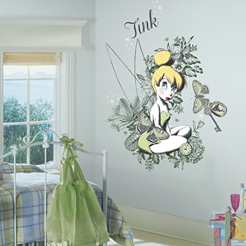 RoomMates Vintage Tinkerbell Mega Peel and Stick Giant Wall Graphix ()