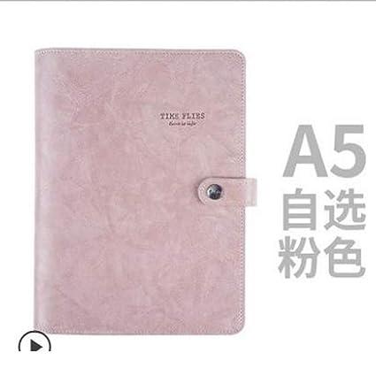 ZLJHH Pu Cuaderno De Cuero Retro Cuaderno De Pu Planificador ...