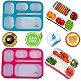 Adult Bento Box Kids Lunch Box 2-Pack - BPA-Free Bento Box for Portable